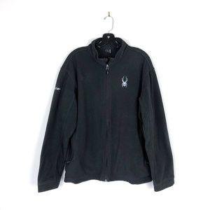 [Spyder] Black Fleece Full Zip Jacket